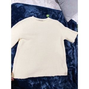 Zara oversized short sleeve sweater M cream